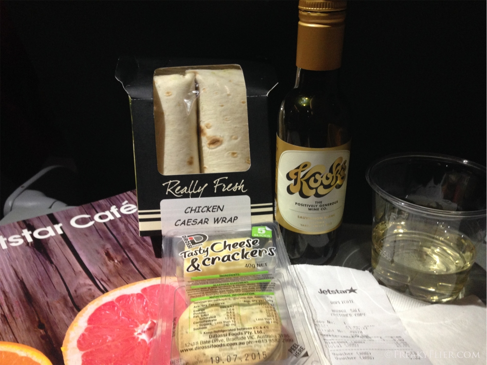 My inflight purchases on board Jetstar