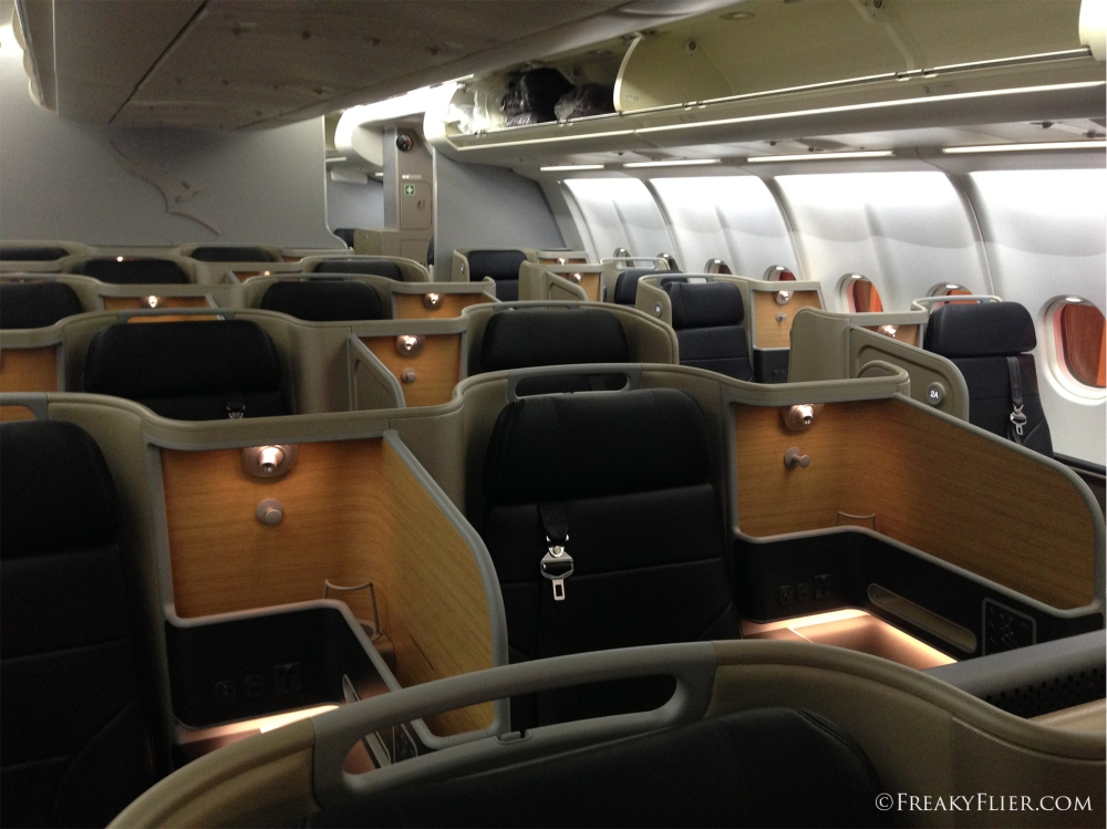 The new Qantas Business Suite on board VH-EBA