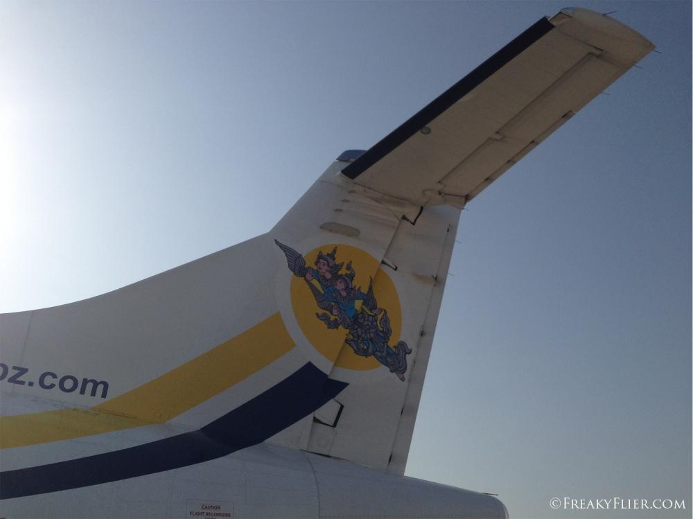 Boarding Air KBZ at Mandalay Airport