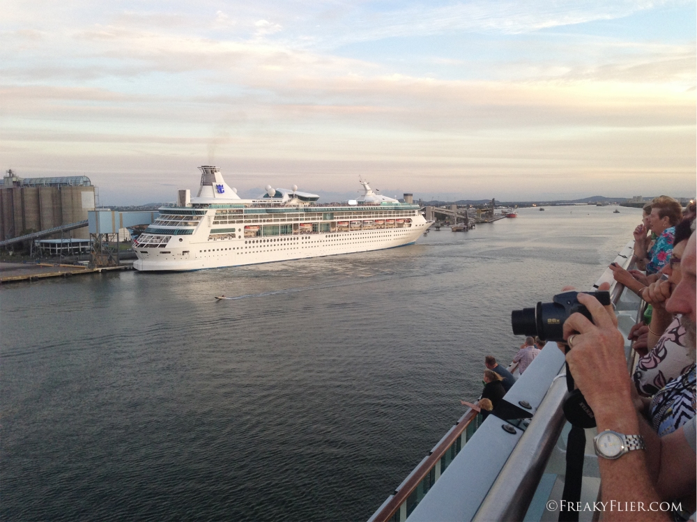 Cruising past Rhapsody of the Seas