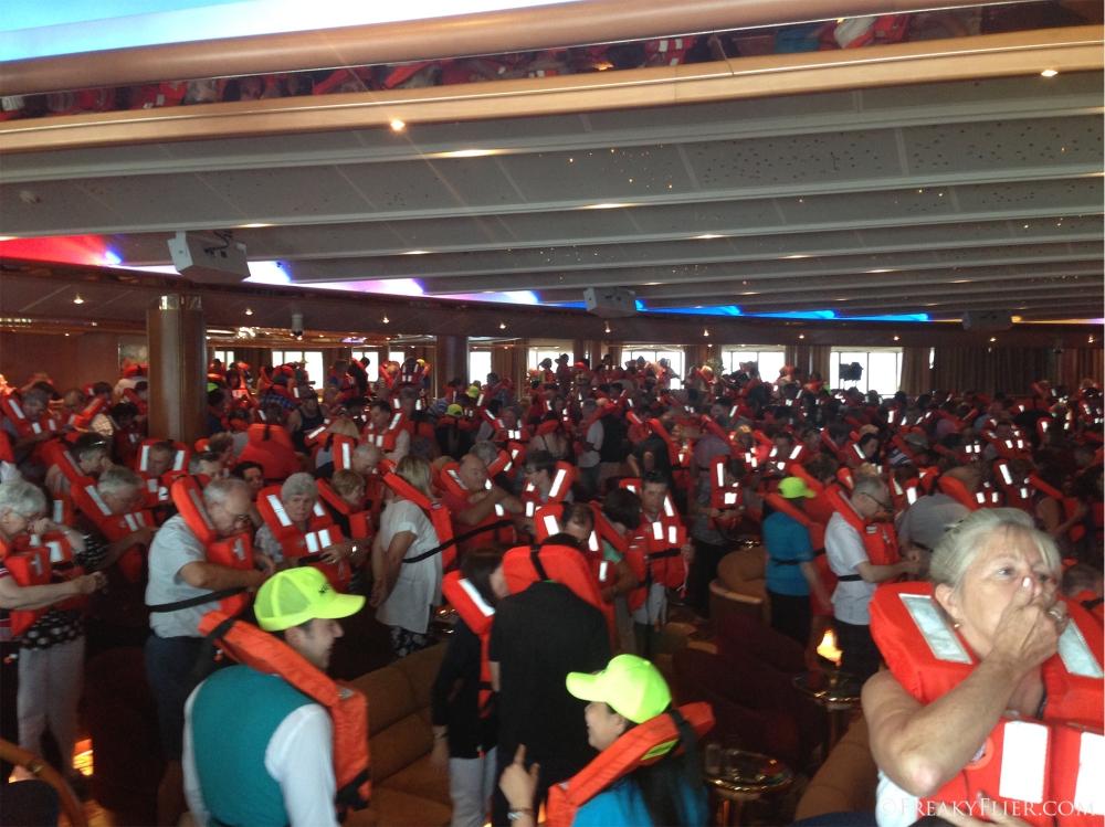 Emergency drill on board Sea Princess