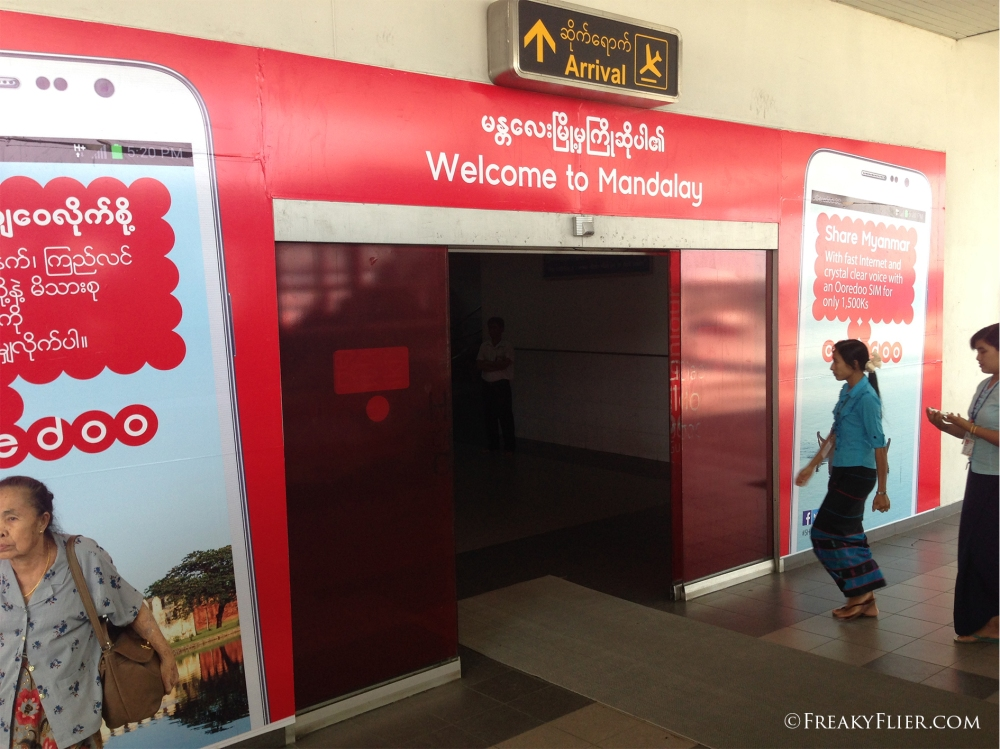 Air Asia arrivals at Mandalay Airport