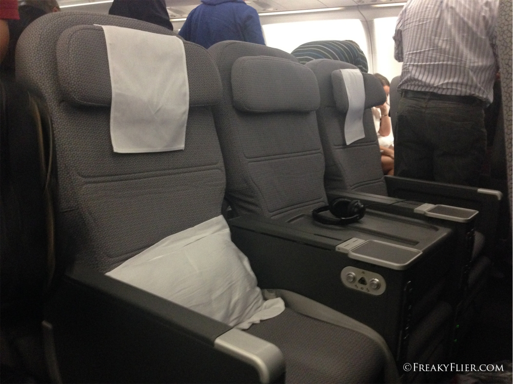 Airbus A330-200 Millenium Seats (note the blocked middle seat)