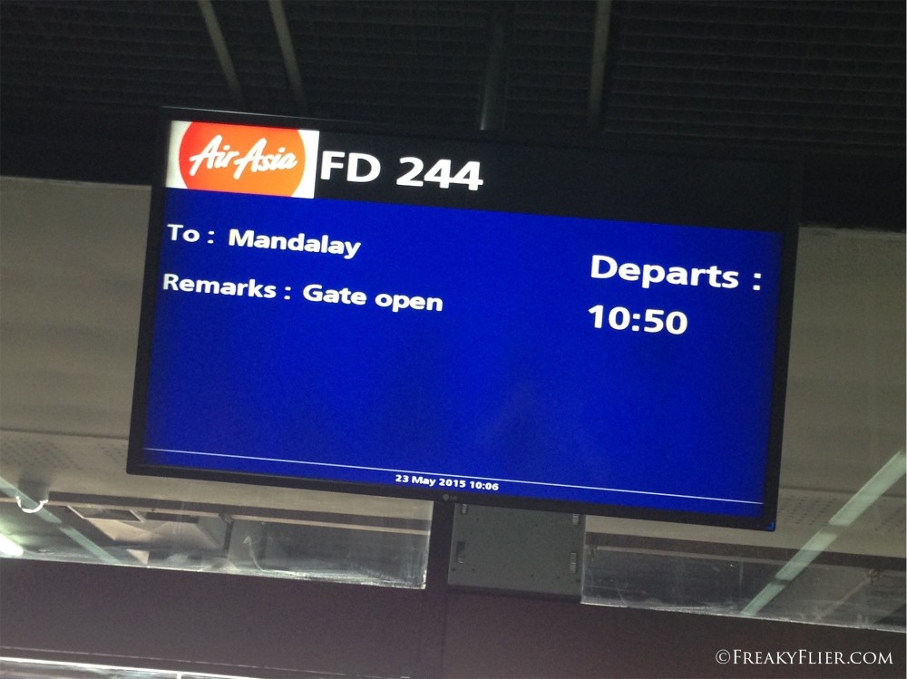 Departure board at DMK Airport