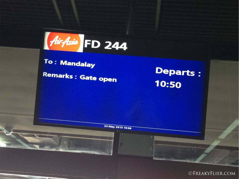 Departure board at DMK Airport