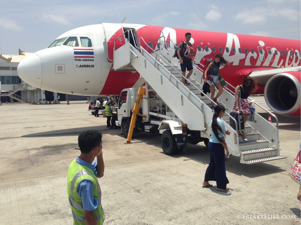 Disembarkation at a very hot Mandalay Airport