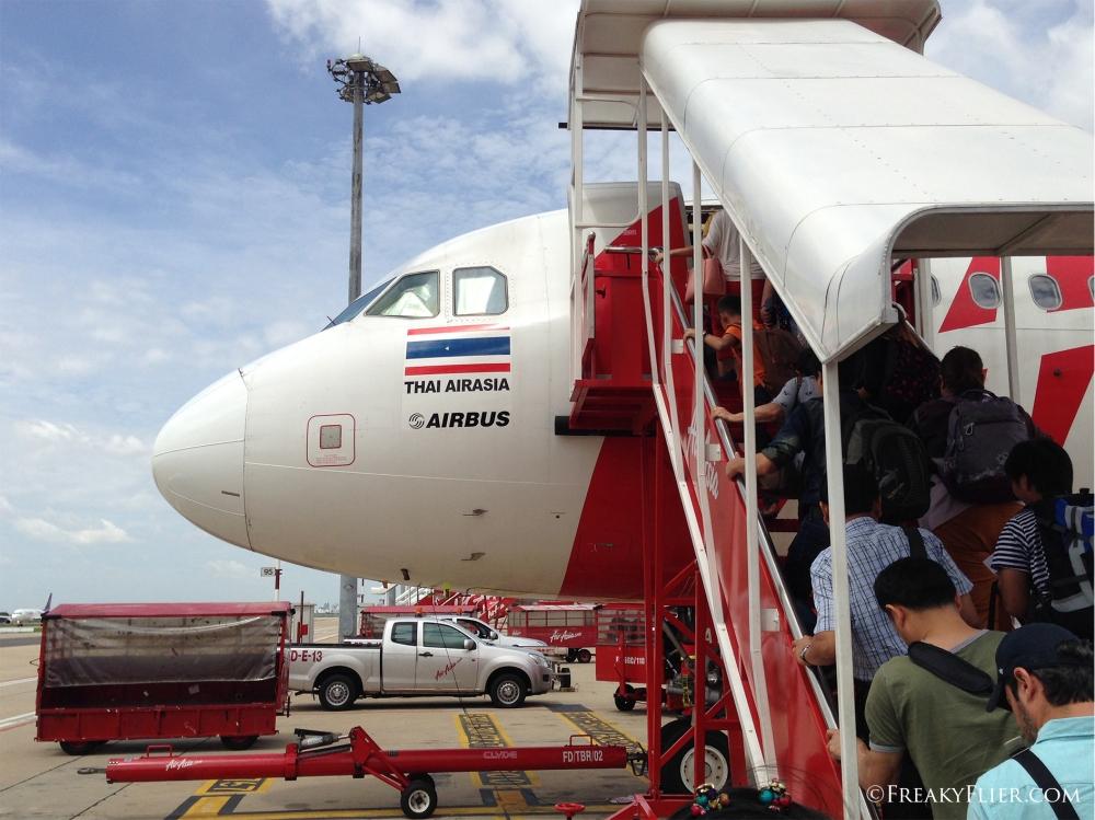 Thai Air Asia Boarding at Don Mueang Bangkok
