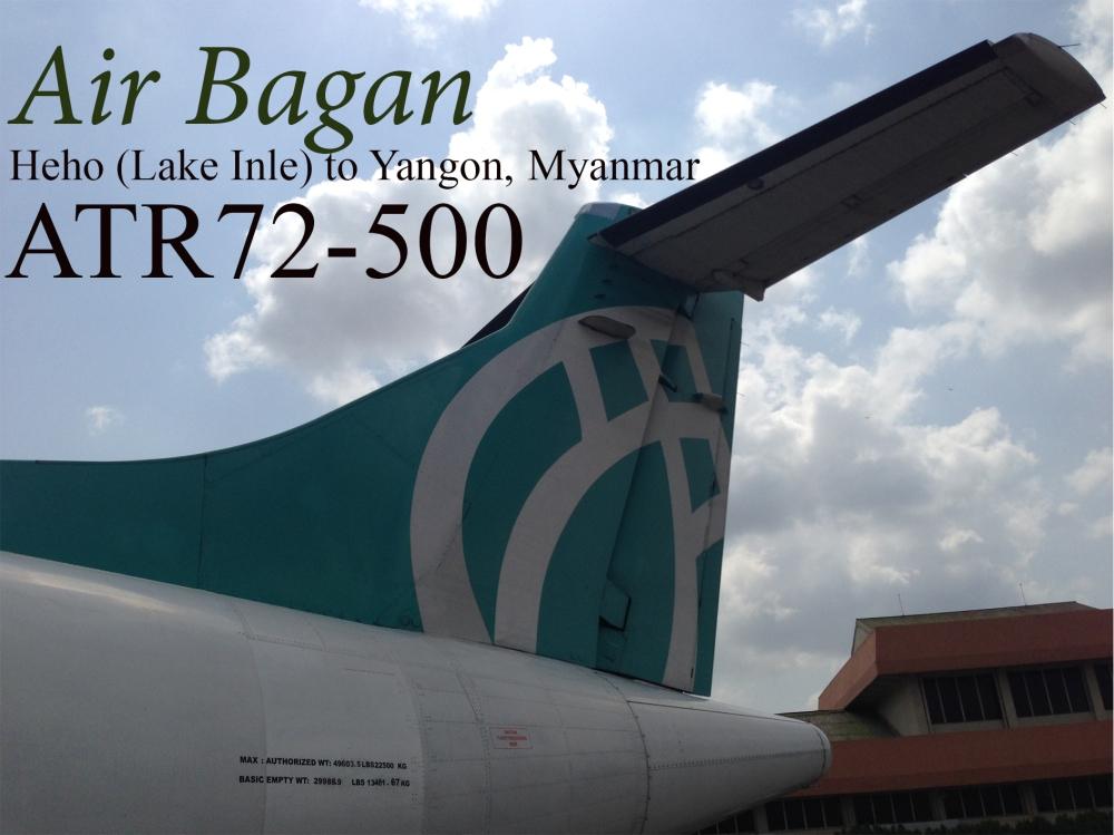 Air Bagan. Heho (Lake Inle) to Yangon, Myanmar