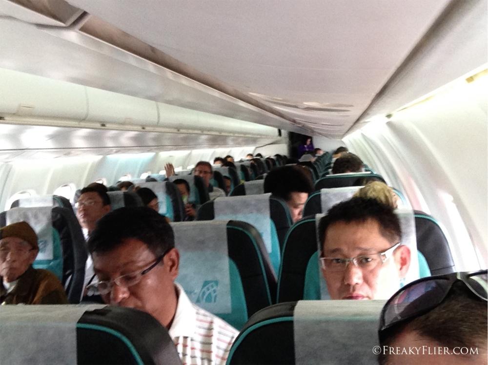 Cabin interior of the ATR72-500