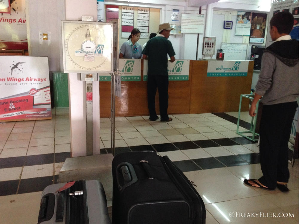Checking in at Heho Airport
