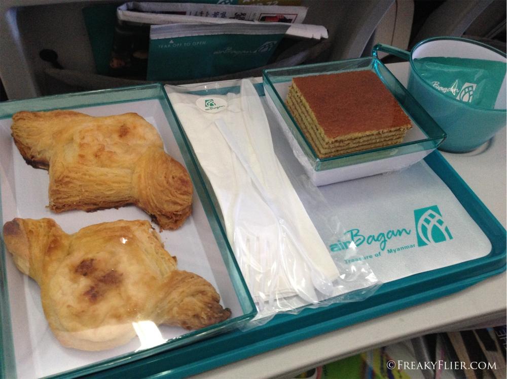 Snack on board the flight to Yangon