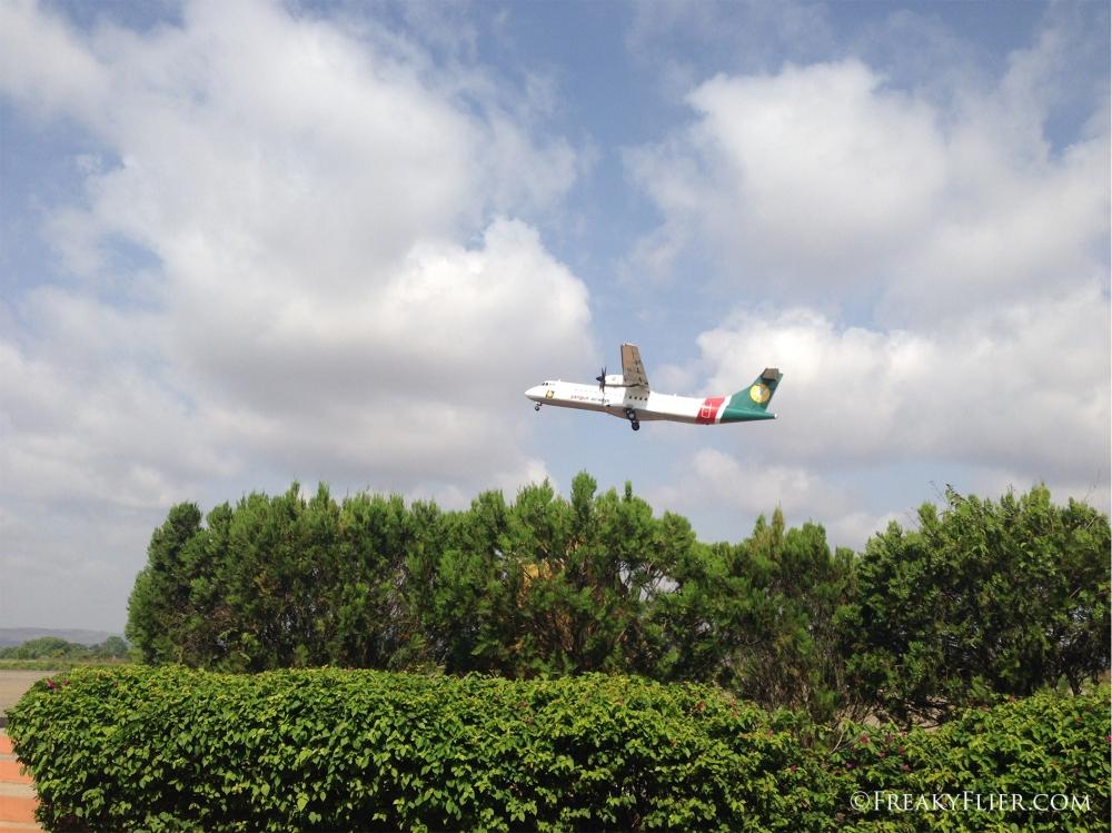 Yangon Airways ATR72-500 taking off from Heho Airport
