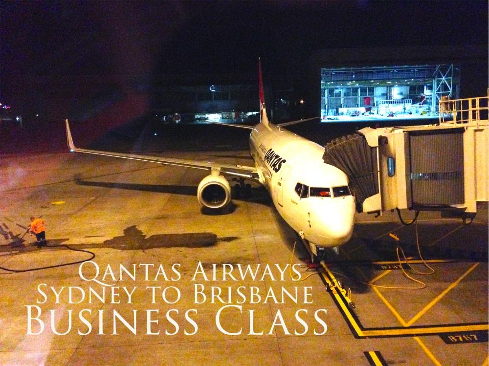 Qantas Airways Sydney to Brisbane Business Class