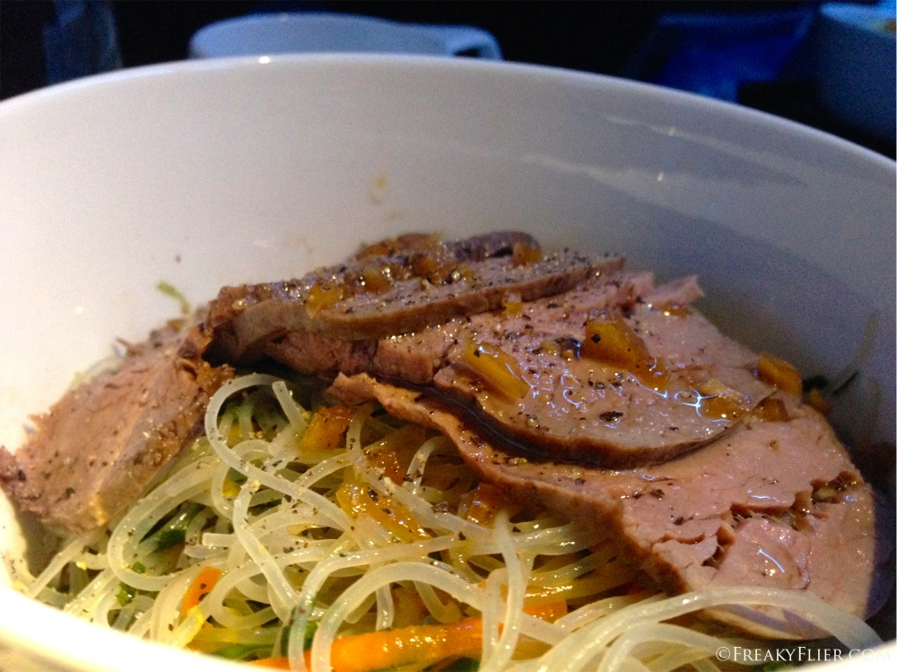 Seared Beef on Glass Noodles