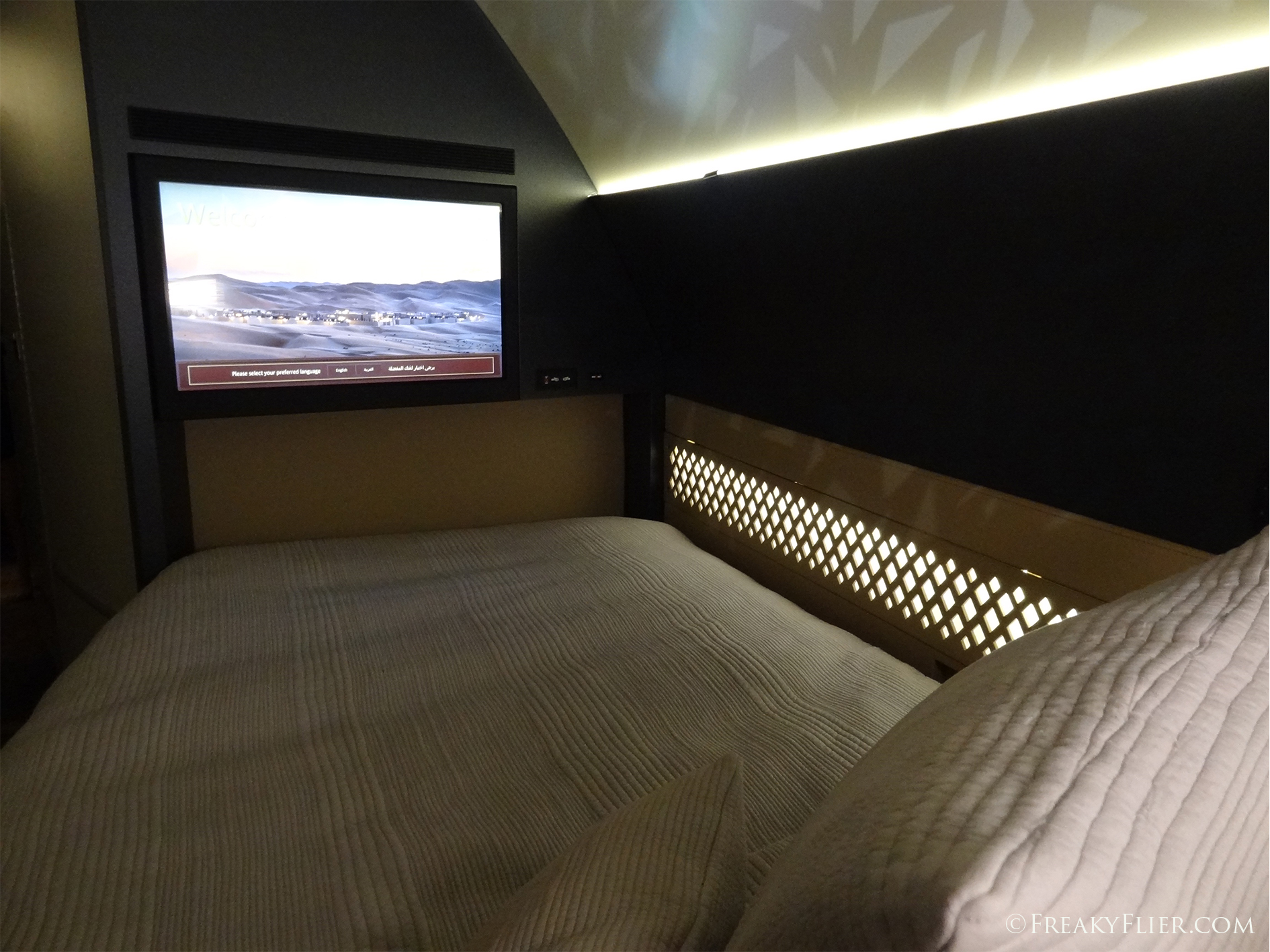 32 inch flat screen TV from the bed in The Residence