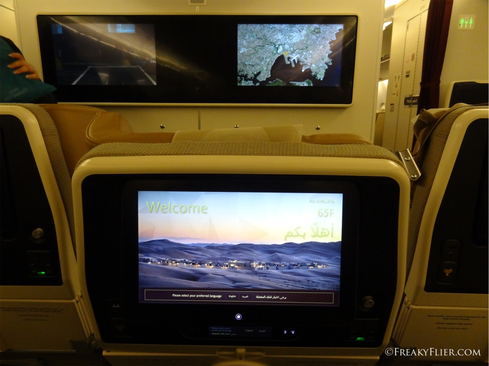 Economy Class recline and larger TV screen