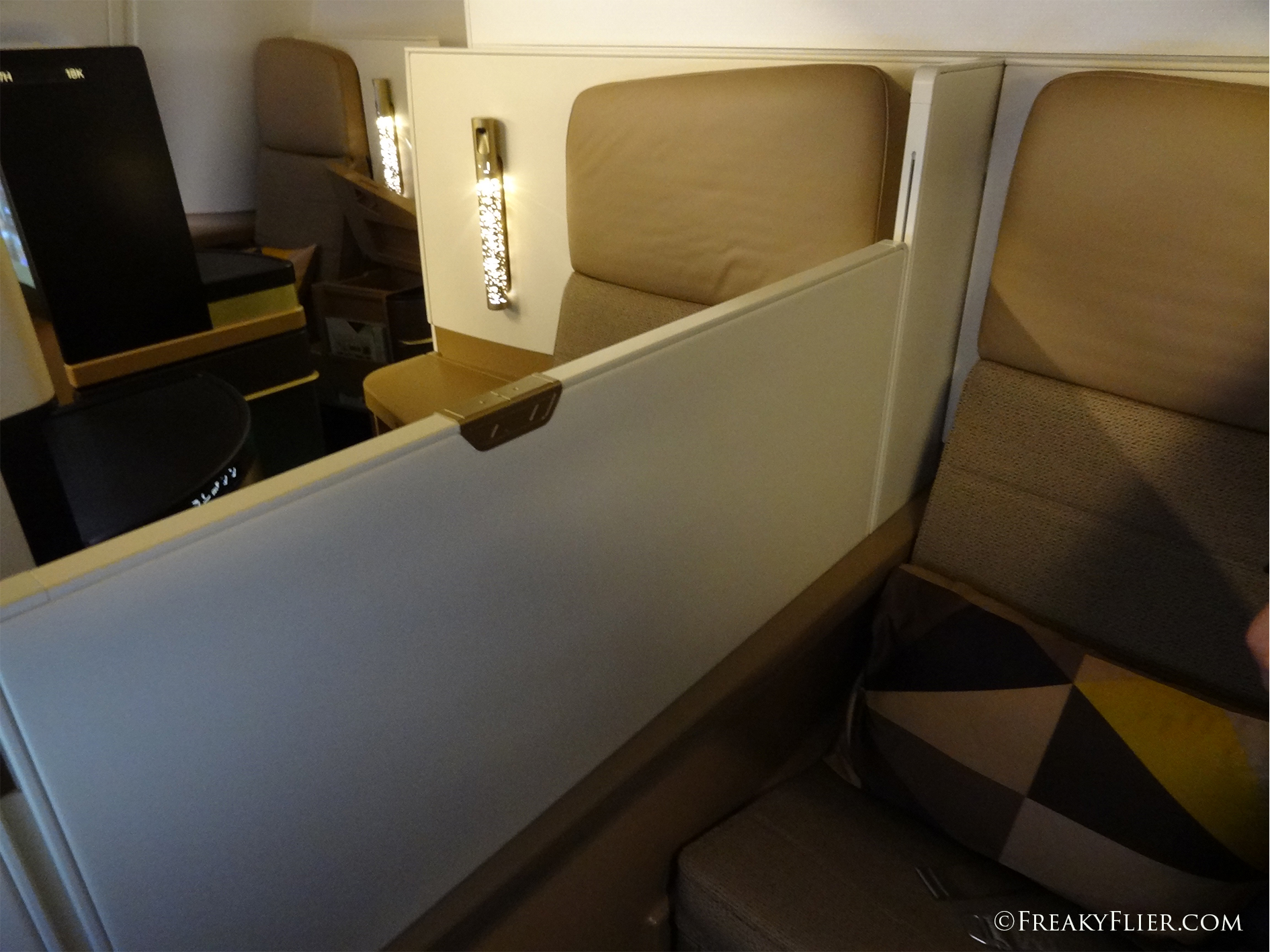 The Business Class middles seats with partition