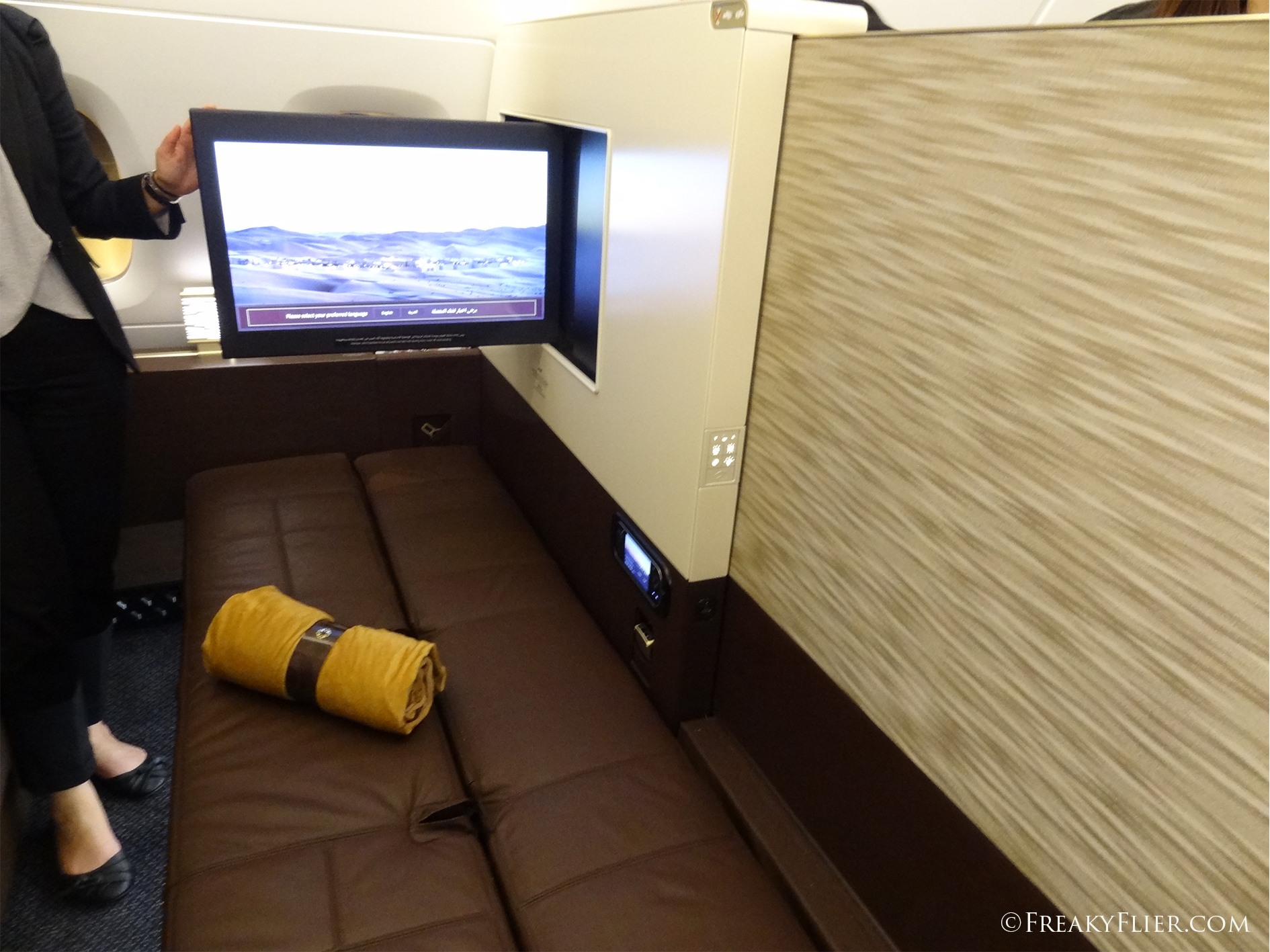 The Flat Bed on Etihads A380