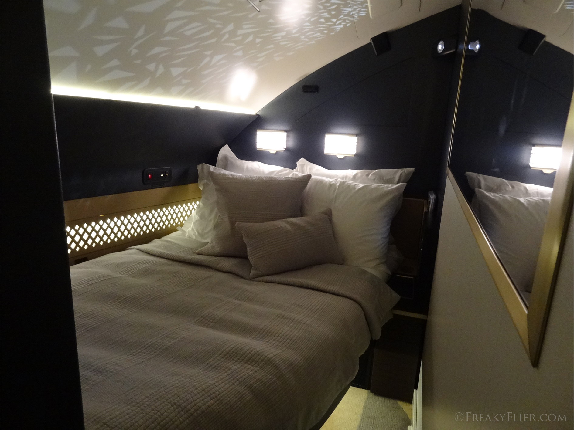 The Residence bedroom on Etihads A380
