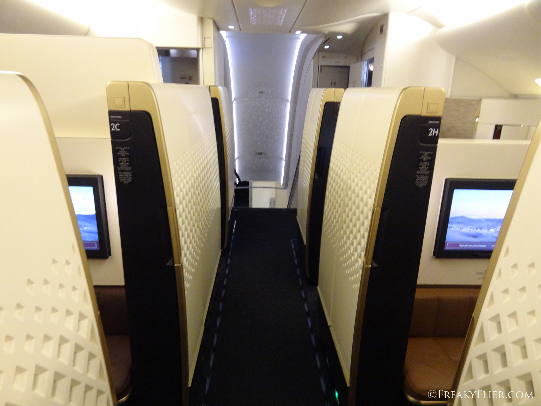 The Upstairs First Apartments on Etihads A380