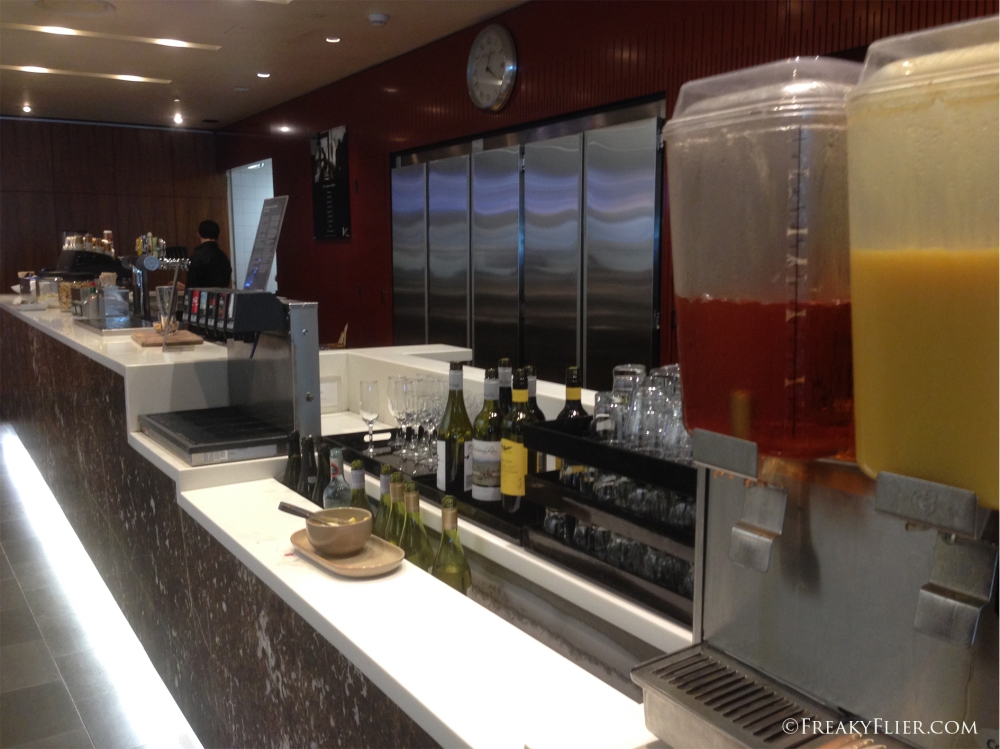 Refreshments at the stocked bar