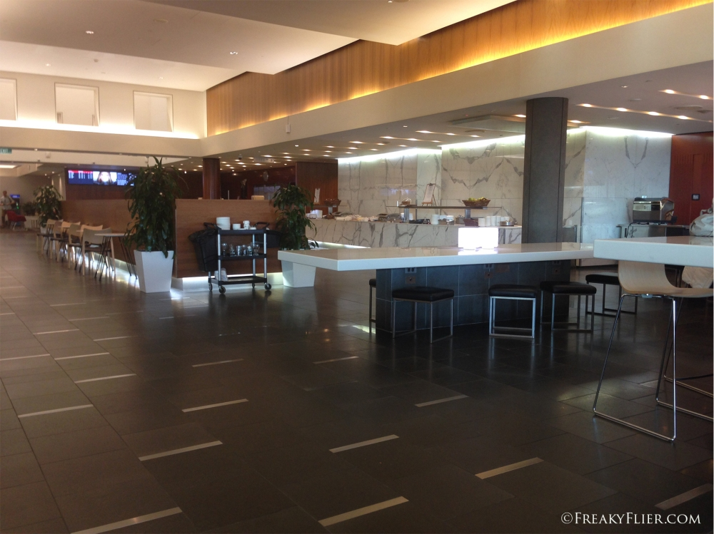 The space is amazing at the Qantas Club Brisbane Domestic Airport