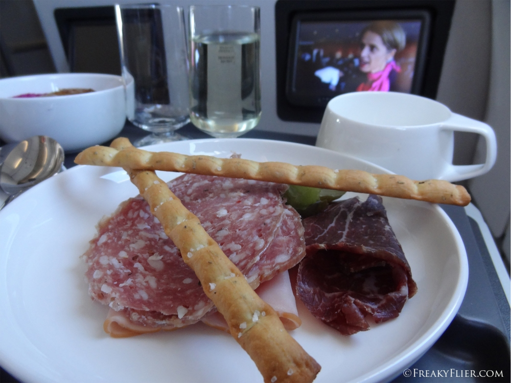 Charcuterie Plate in Business Class