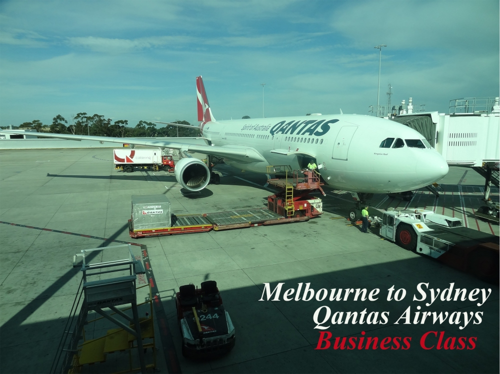 Melbourne to Sydney Qantas Airways Business Class