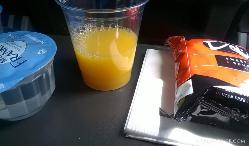 Economy Class refreshment