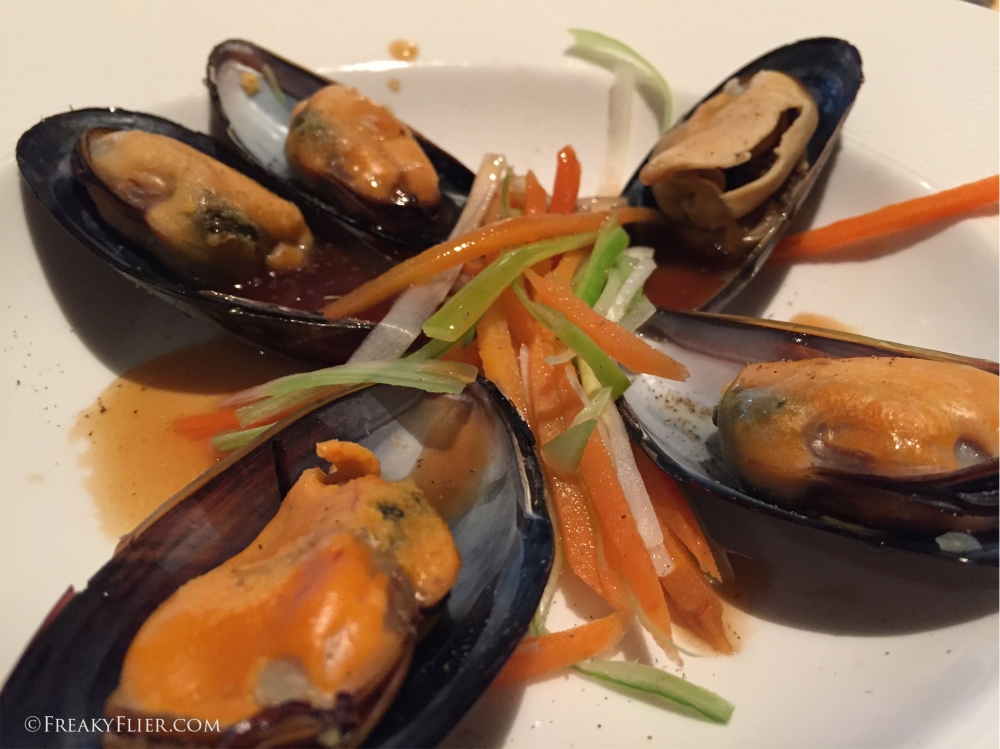 New Zealand Green Shell Mussels in Teriyaki-ginger broth