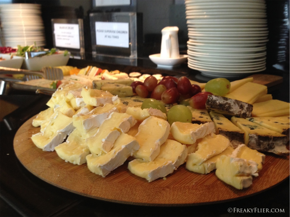The cheese platter in the First Lounge