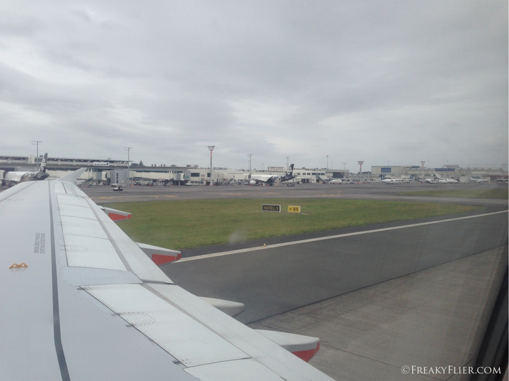 Arrival in Auckland