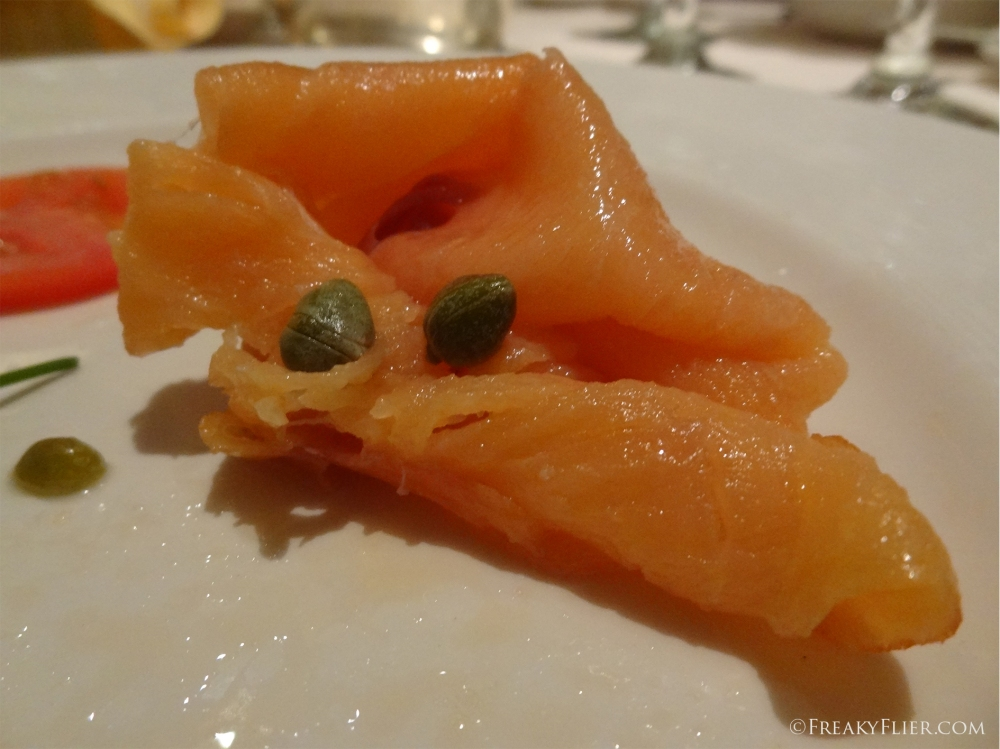 Smoked Tasmanian Salmon with Baby Capers