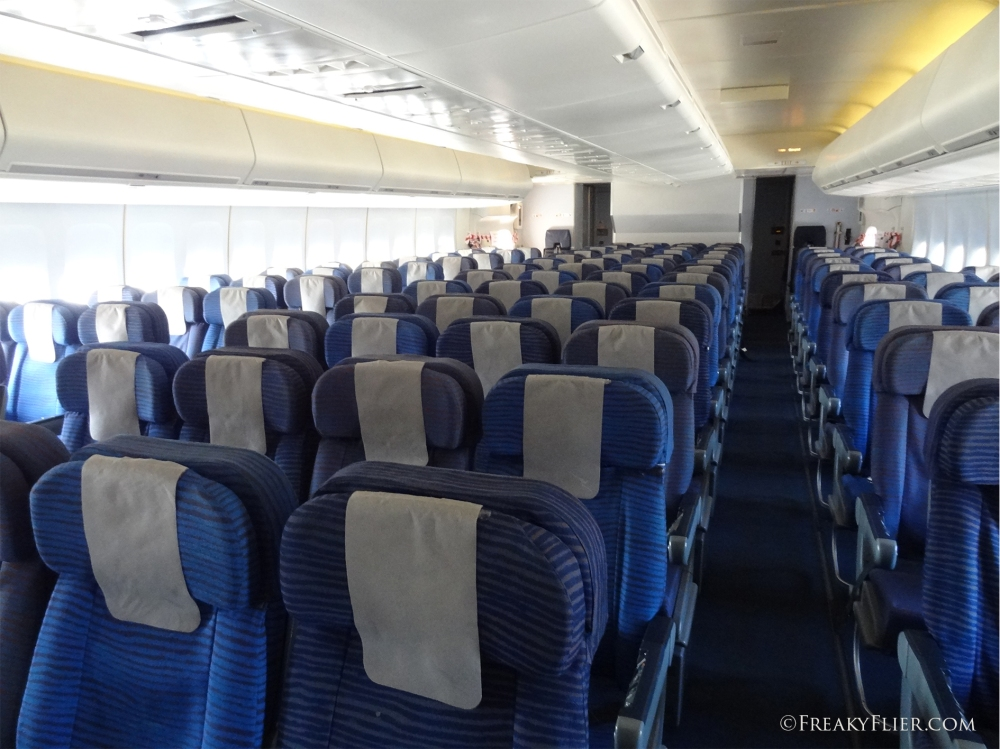 Economy Class on board the 747-400
