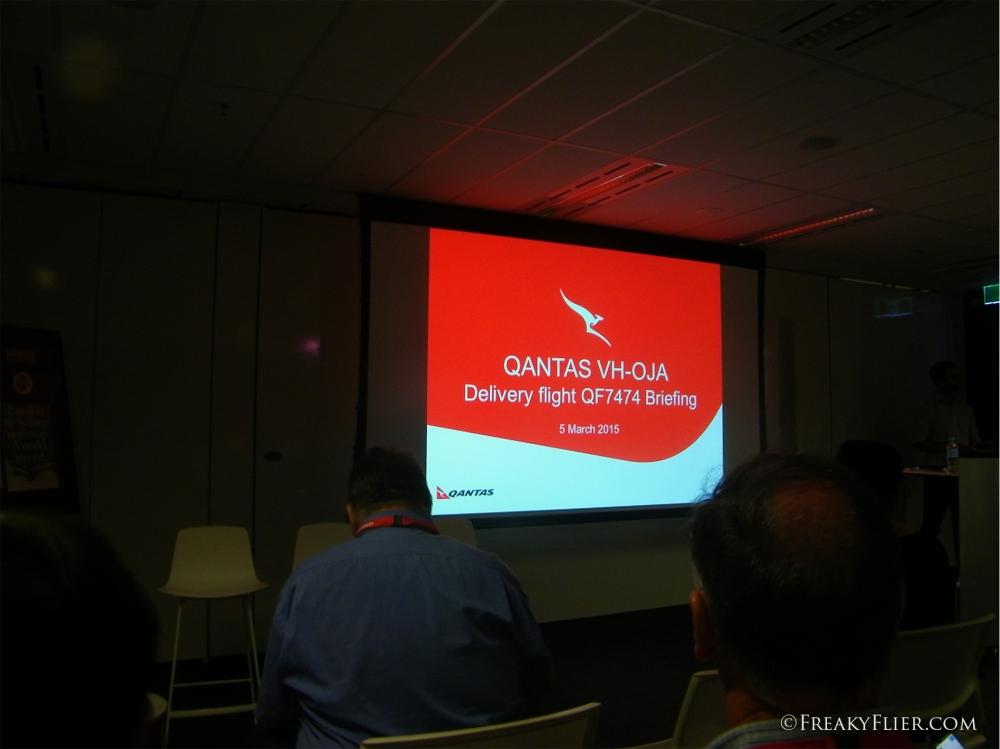 Flight Briefing at Qantas Headquarters, Mascot