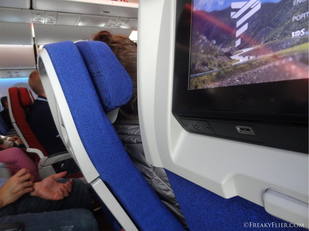 Economy Class seat recline on LATAM