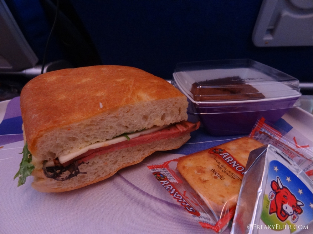 Lunch on board LATAM Sydey to Auckland