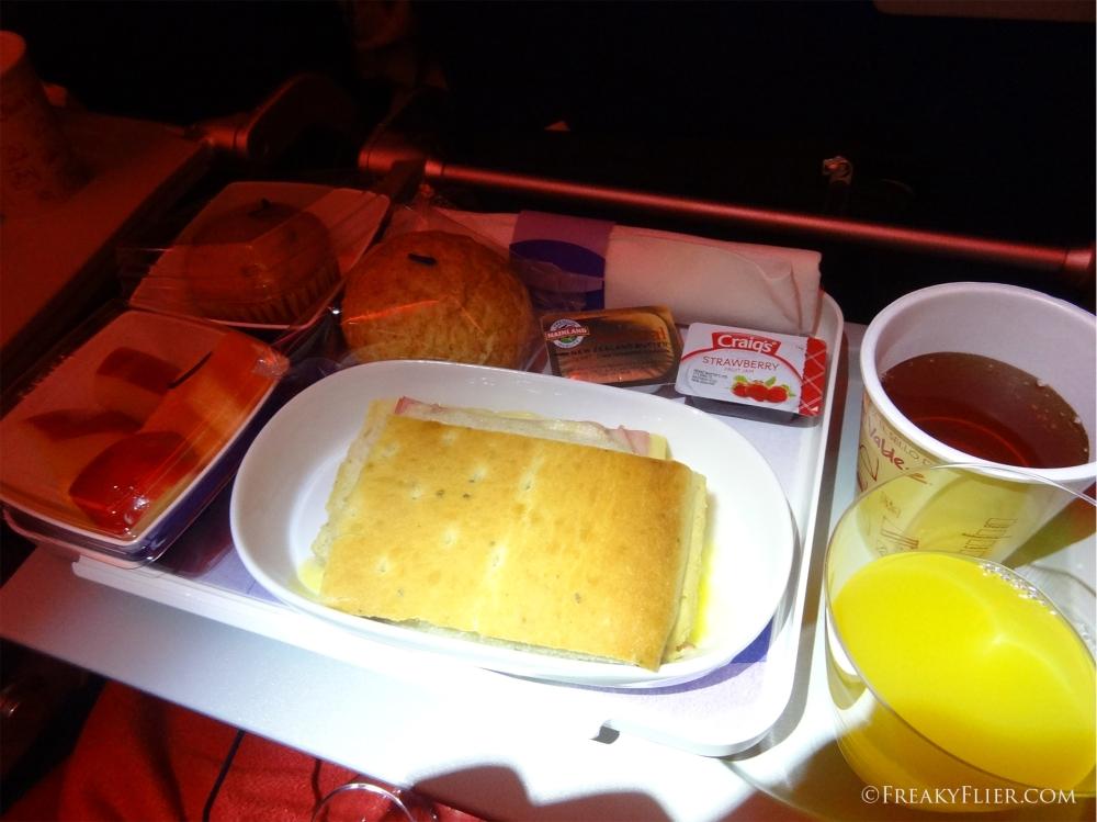 Breakfast on board LATAM