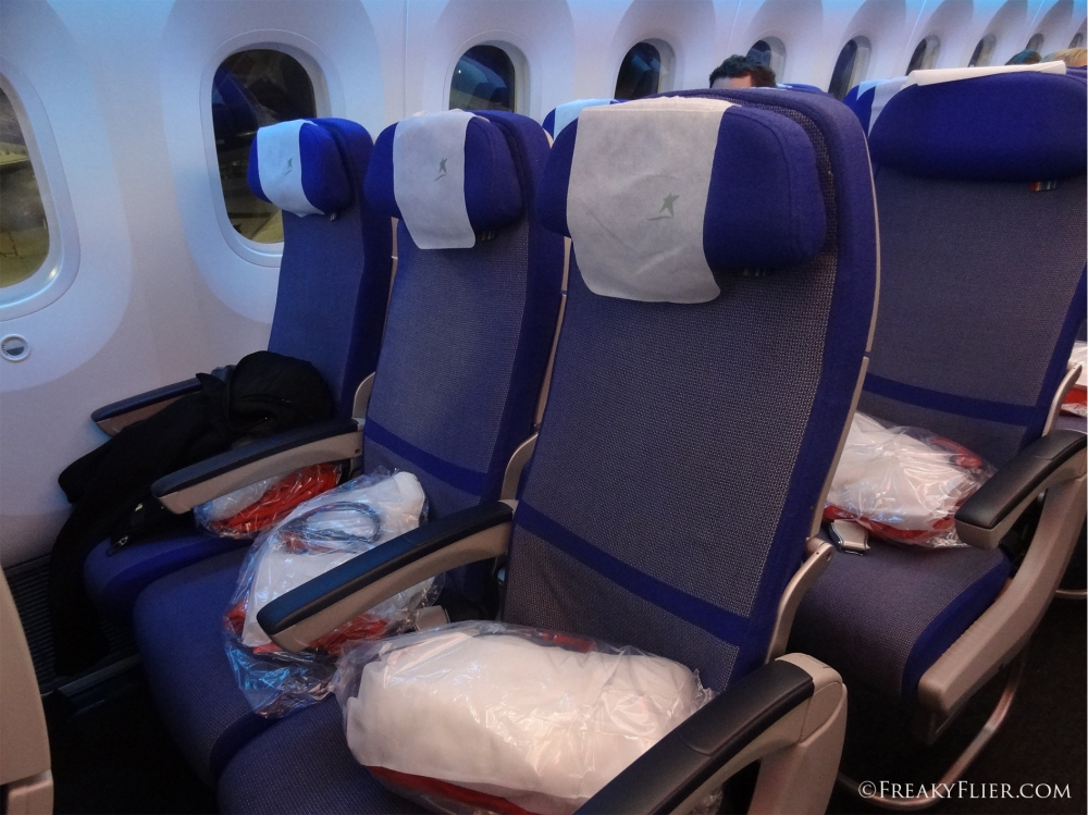 Economy Class seating on LATAM Auckland to Santiago