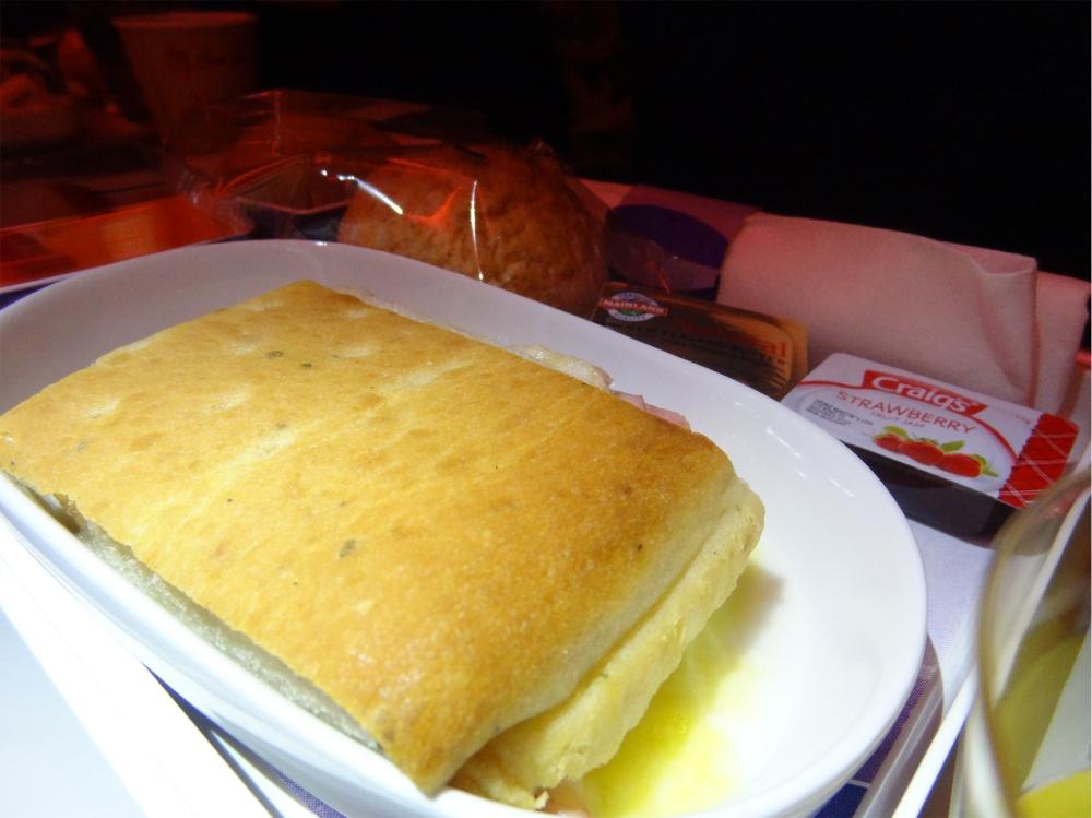 The breakfast sandwich on board LATAM