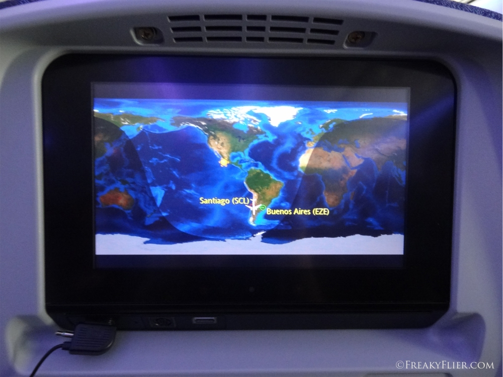 Entertainment on board the LATAM (LAN) 787-8