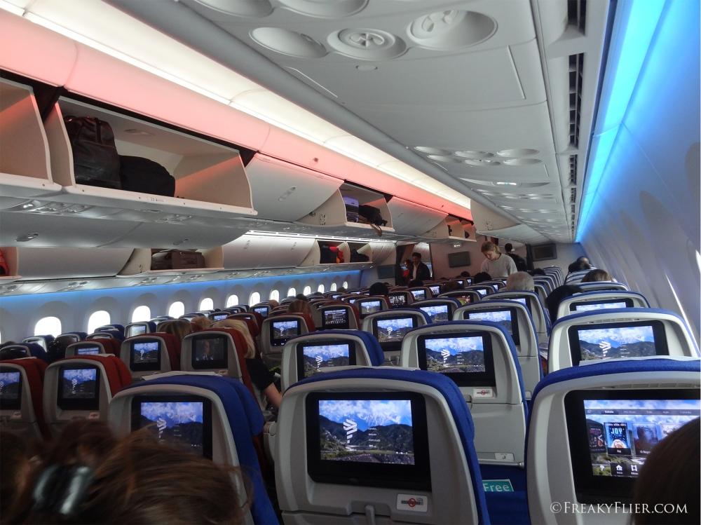 On board LATAM (LAN) Boeing 787-8 Dreamliner