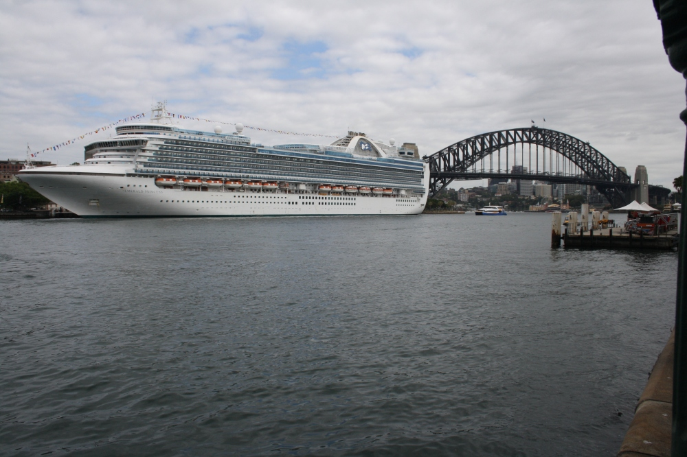 Emerald Princess at Sydney's Overseas Passenger Terminal
