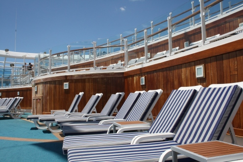 Lounging on deck
