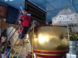 Large Gold Alms Bowl