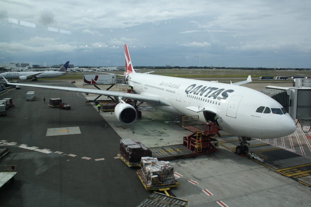 May - Departing Sydney on Qantas A330
