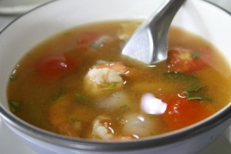 Tom Yam Goon - Hot and sour prawn soup