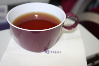Cup of tea after the meal service.