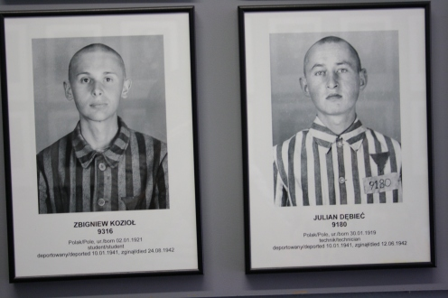 Inmates at Auschwitz I