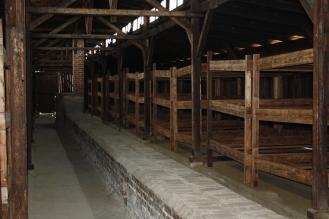 Inside a hut at Auschwitz II - Birkenau